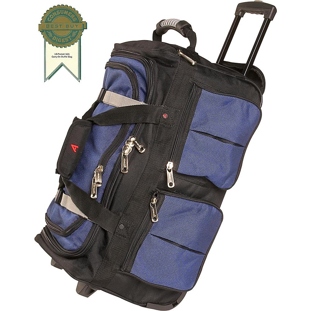 Athalon 15 Pocket 22 Wheeling Duffel Blue w Black