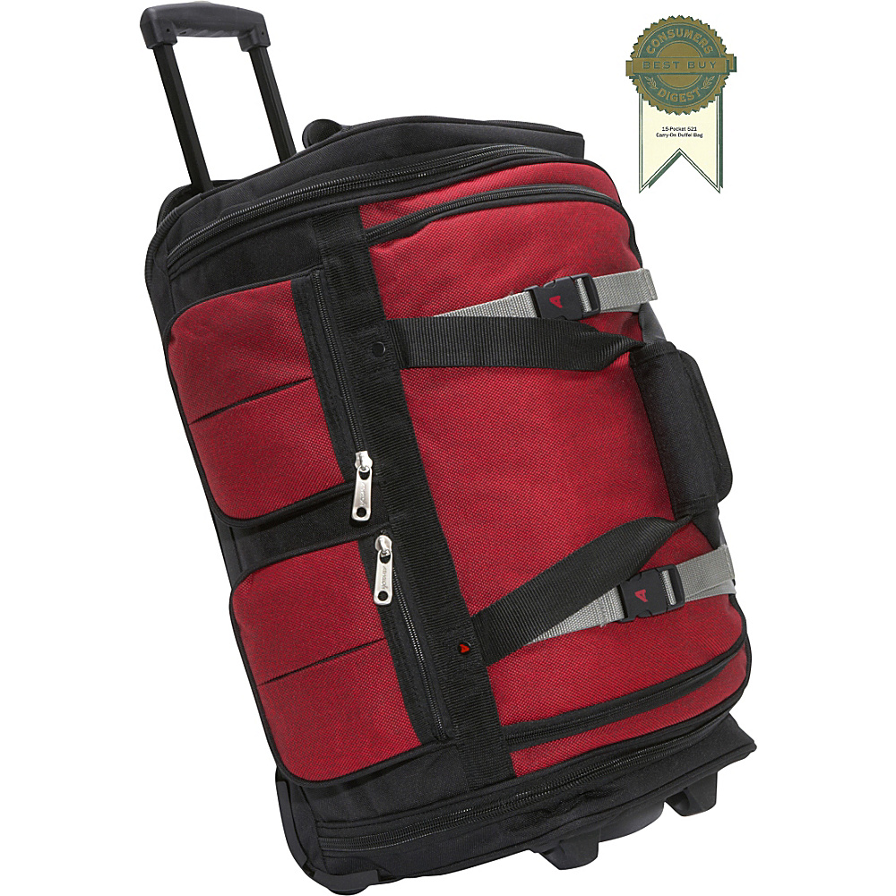 Athalon 15 Pocket 22 Wheeling Duffel Red Blk Athalon Rolling Duffels
