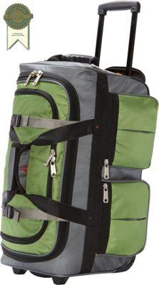 "Image of Athalon 15-Pocket 22"" Wheeling Duffel Grass/Gray - Athalon Large Rolling Luggage"