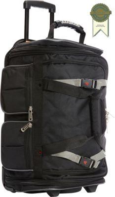 Athalon 15-Pocket 22 inch Wheeling Duffel Black - Athalon Travel Duffels