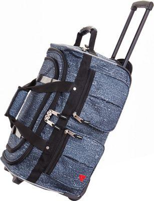 "Image of Athalon 15-Pocket 22"" Wheeling Duffel Blue Rain - Athalon Travel Duffels"