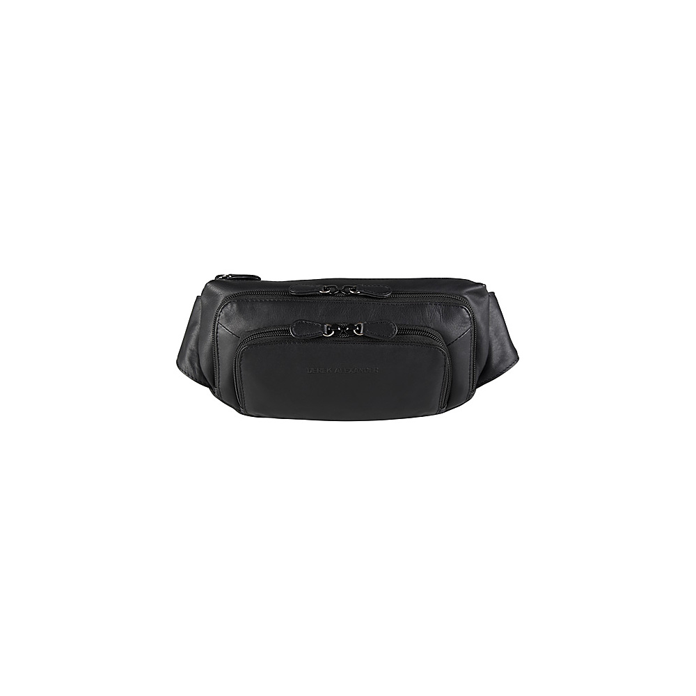 Derek Alexander Three Zip Fanny Pack Organizer - Black - Backpacks, Waist Packs
