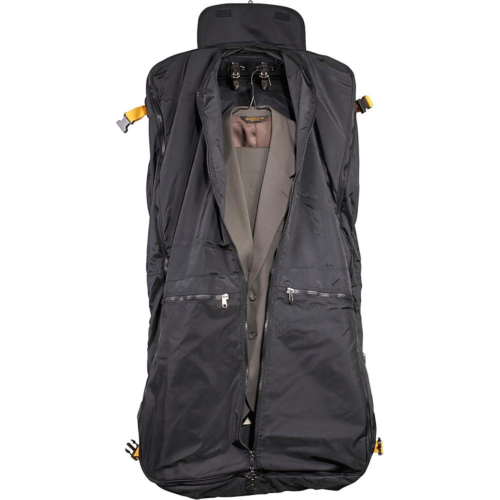 A. Saks EXPANDABLE Expandable Garment Bag - Black