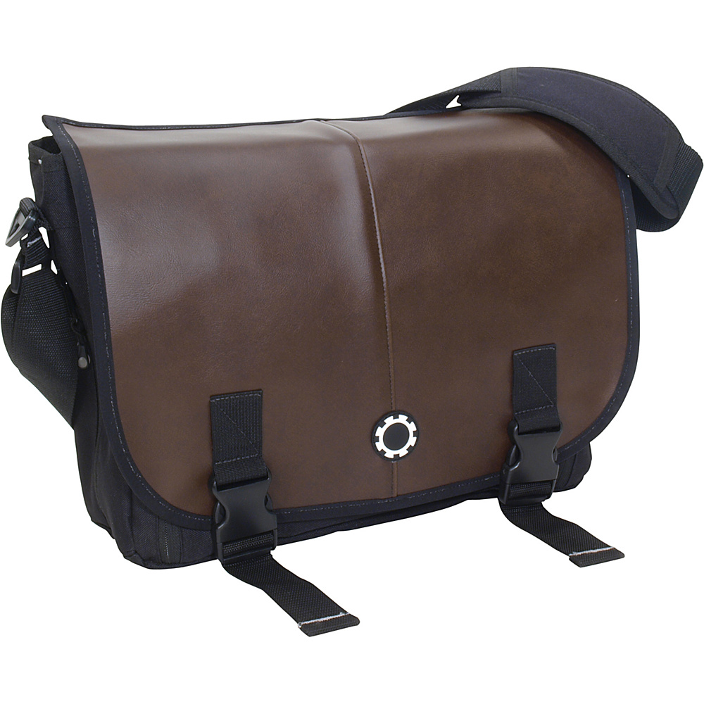 DadGear Messenger Diaper Bag Pro - Coffee Brown - Handbags, Diaper Bags & Accessories
