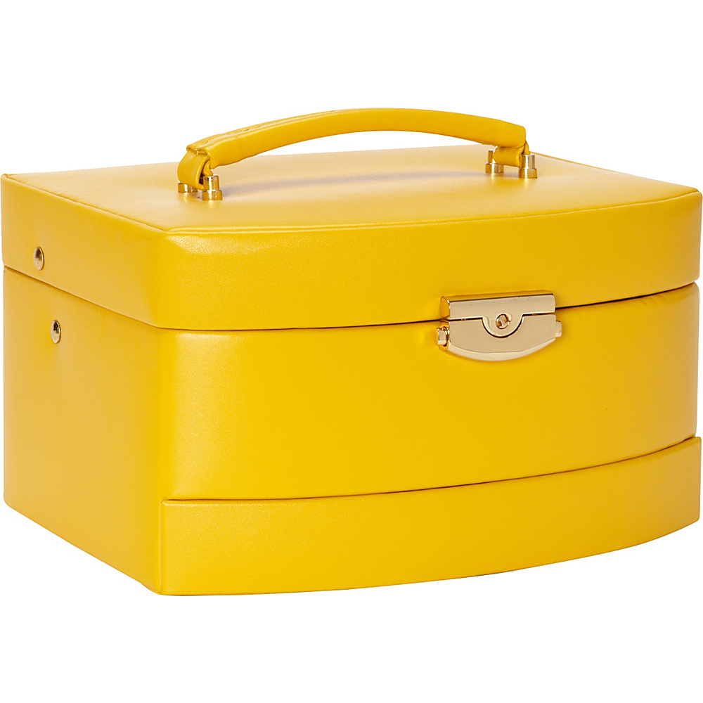 Budd Leather Leather Large Auto Open Jewel Box - Yellow - Work Bags & Briefcases, Business Accessories