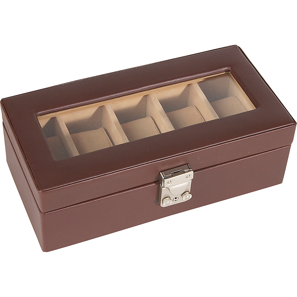Royce Leather 5 Slot Watchbox - Coco - Work Bags & Briefcases, Business Accessories