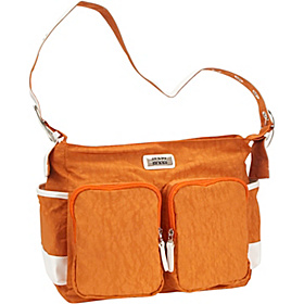 City Mom Nylon Diaper Bag Orange w/White
