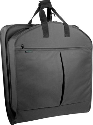 """Wally Bags 40"""" Suit Bag w/ Two Pockets - Black"""