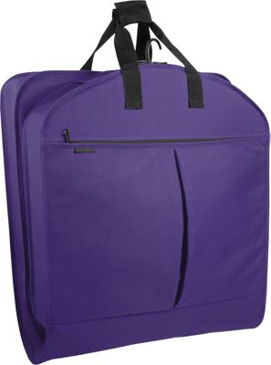 Wally Bags 40 inch Suit Bag w/ Two Pockets Purple - Wally Bags Garment Bags