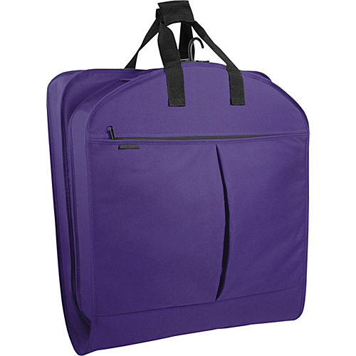 "Wally Bags 40"" Suit Bag w/ Two Pockets Purple - Wally Bags Garment Bags"