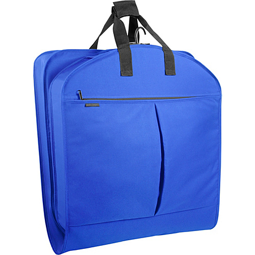 "Wally Bags 40"" Suit Bag w/ Two Pockets Royal - Wally Bags Garment Bags"