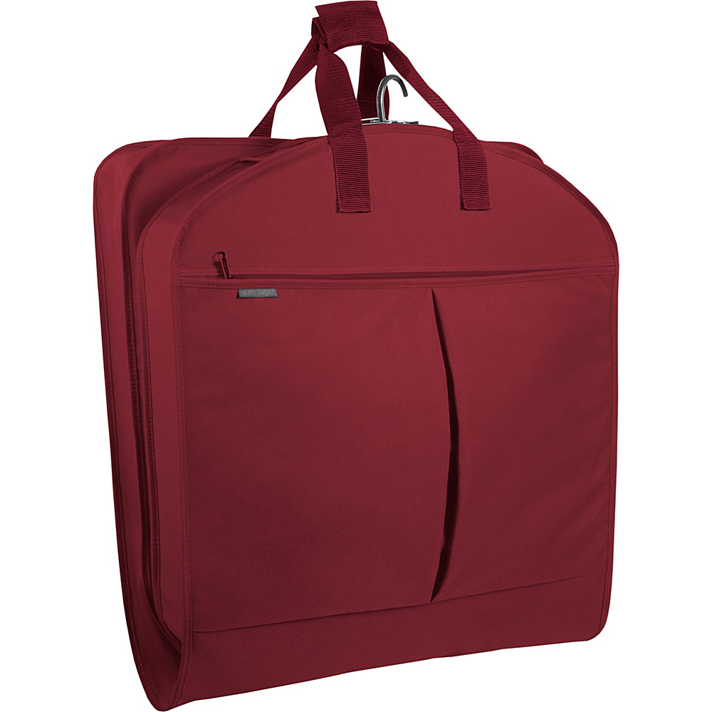 Wally Bags 40 Suit Bag w Two Pockets Red Wally Bags Garment Bags