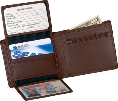 Royce Leather Men's Bi-Fold Wallet w/2 ID Window & 1250379