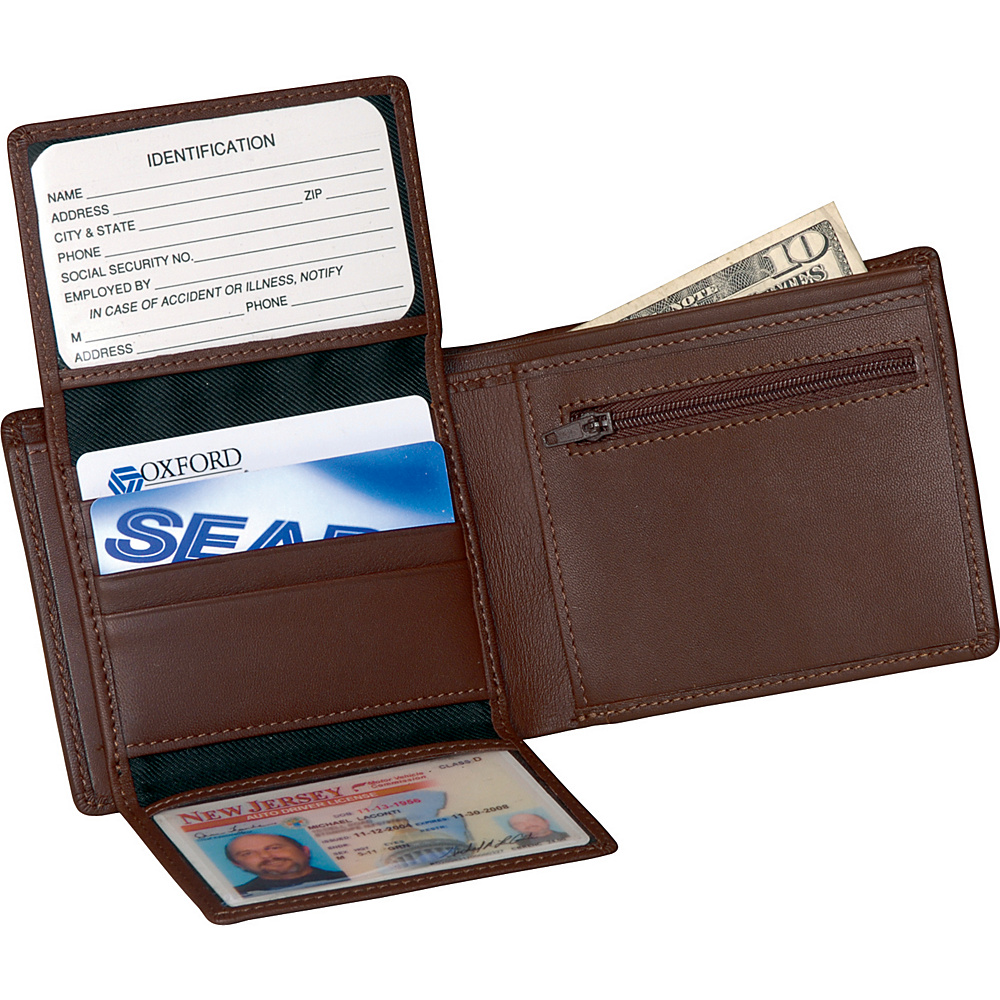 Royce Leather Mens Bi-Fold Wallet w/2 ID Window & - Work Bags & Briefcases, Men's Wallets