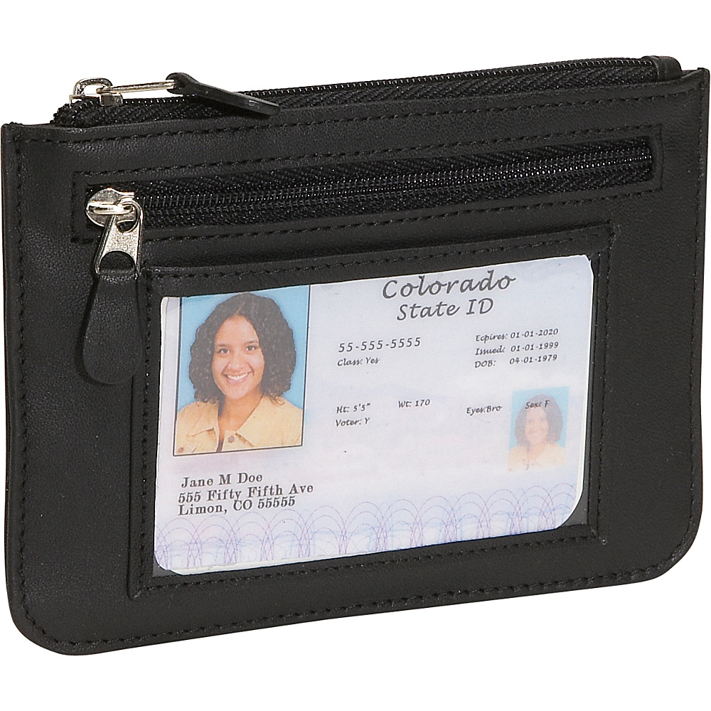 Royce Leather Neat Pockets - Black - Women's SLG, Women's Wallets