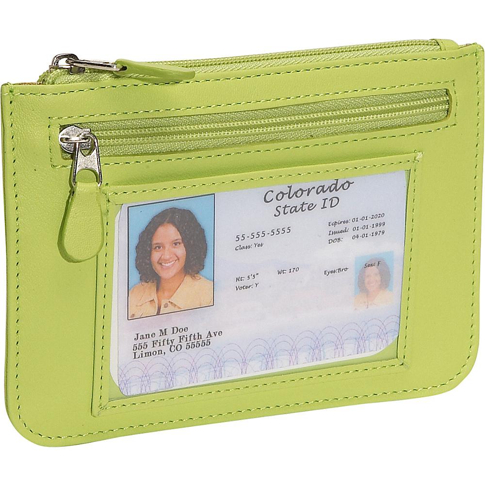 Royce Leather Neat Pockets - Key Lime Green - Women's SLG, Women's Wallets