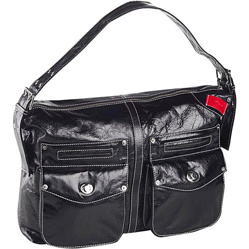 Clava Kiki Messenger Sling/Shoulder Bag - Glazed Black