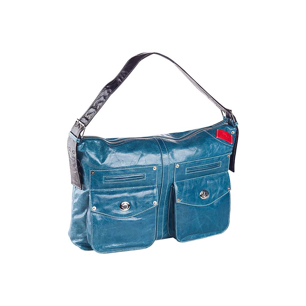 Clava Kiki Messenger Sling/Shoulder Bag - Glazed Blue - Handbags, Leather Handbags