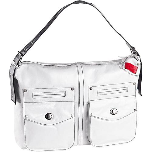 Clava Kiki Messenger Sling/Shoulder Bag - Glazed White