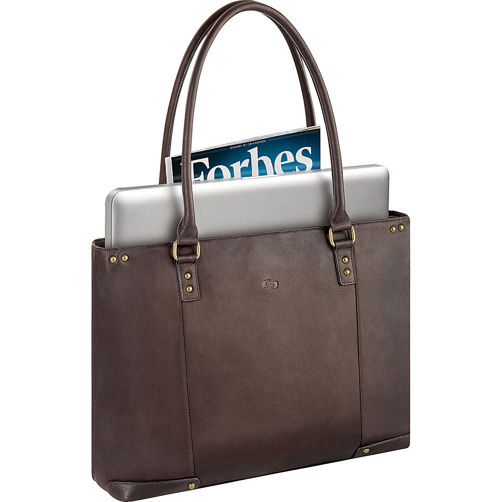SOLO Vintage Laptop Carry All - Espresso - Work Bags & Briefcases, Women's Business Bags