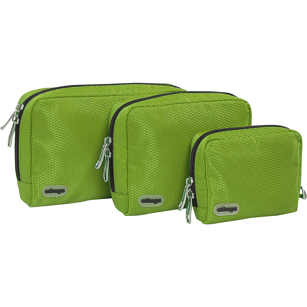 eBags Padded Pouches 3 pc Set Grasshopper