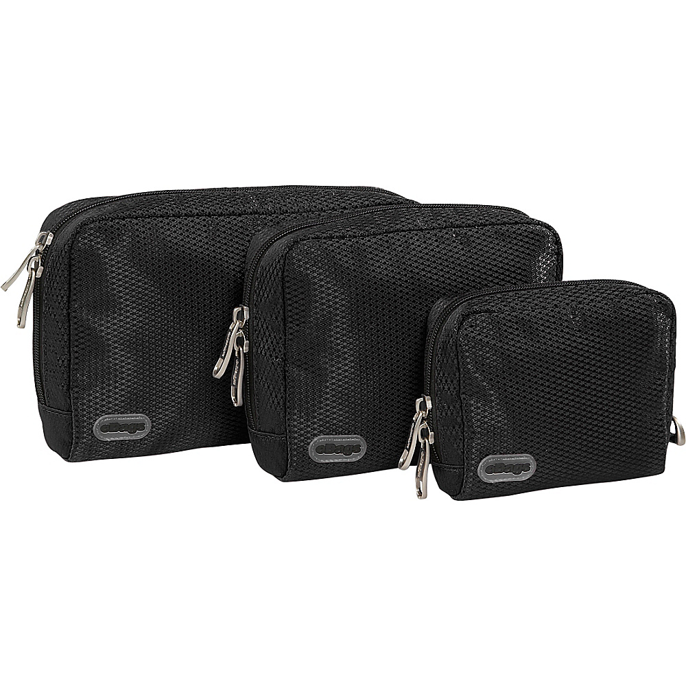 eBags Padded Pouches 3 pc Set Black