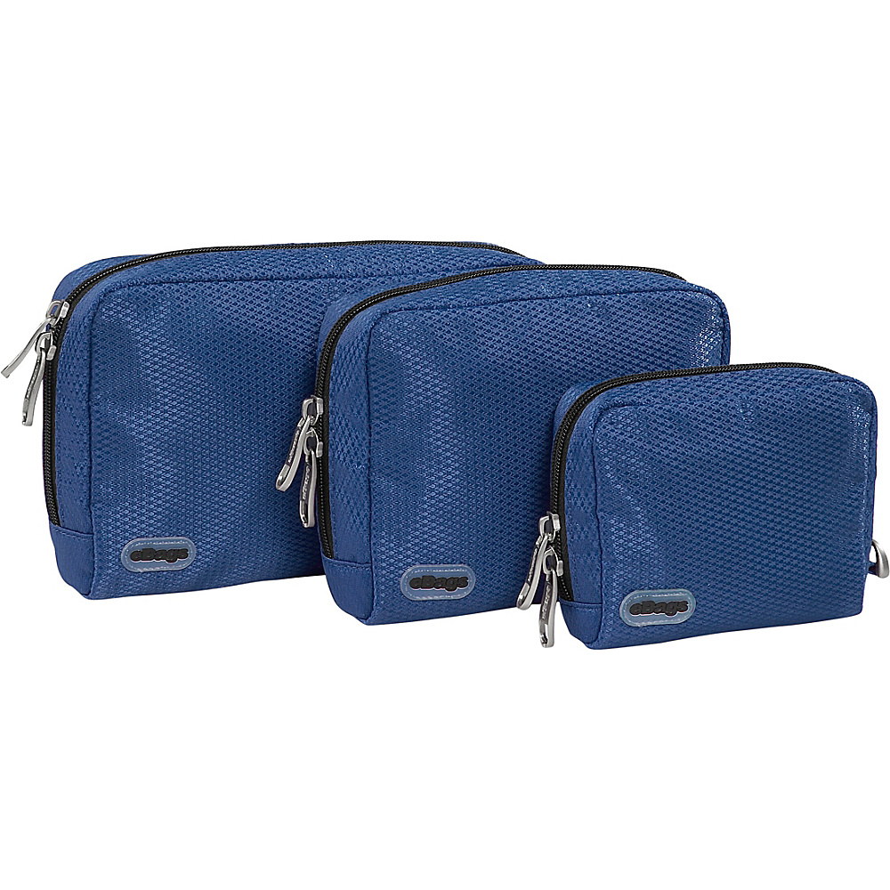 eBags Padded Pouches 3 pc Set Denim
