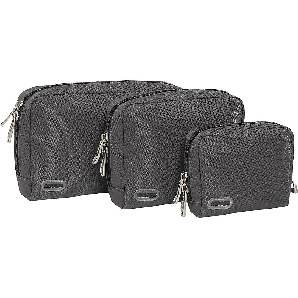 eBags Padded Pouches - 3 pc Set - Titanium - Travel Accessories, Travel Organizers