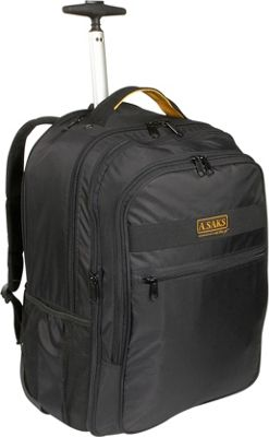 A. Saks EXPANDABLE Trolley Laptop Backpack - Black