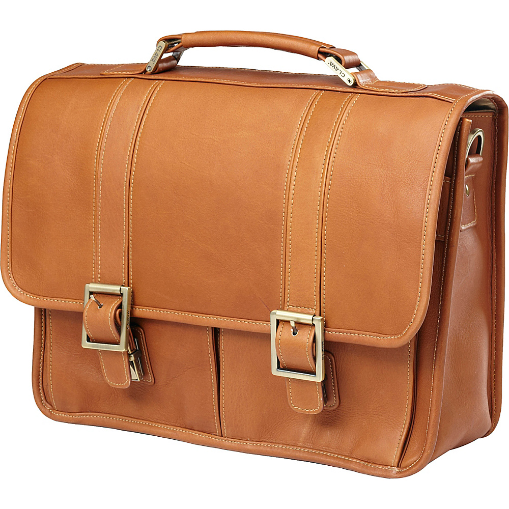 Clava Vachetta Leather Laptop Briefcase - Vachetta Tan - Work Bags & Briefcases, Non-Wheeled Business Cases