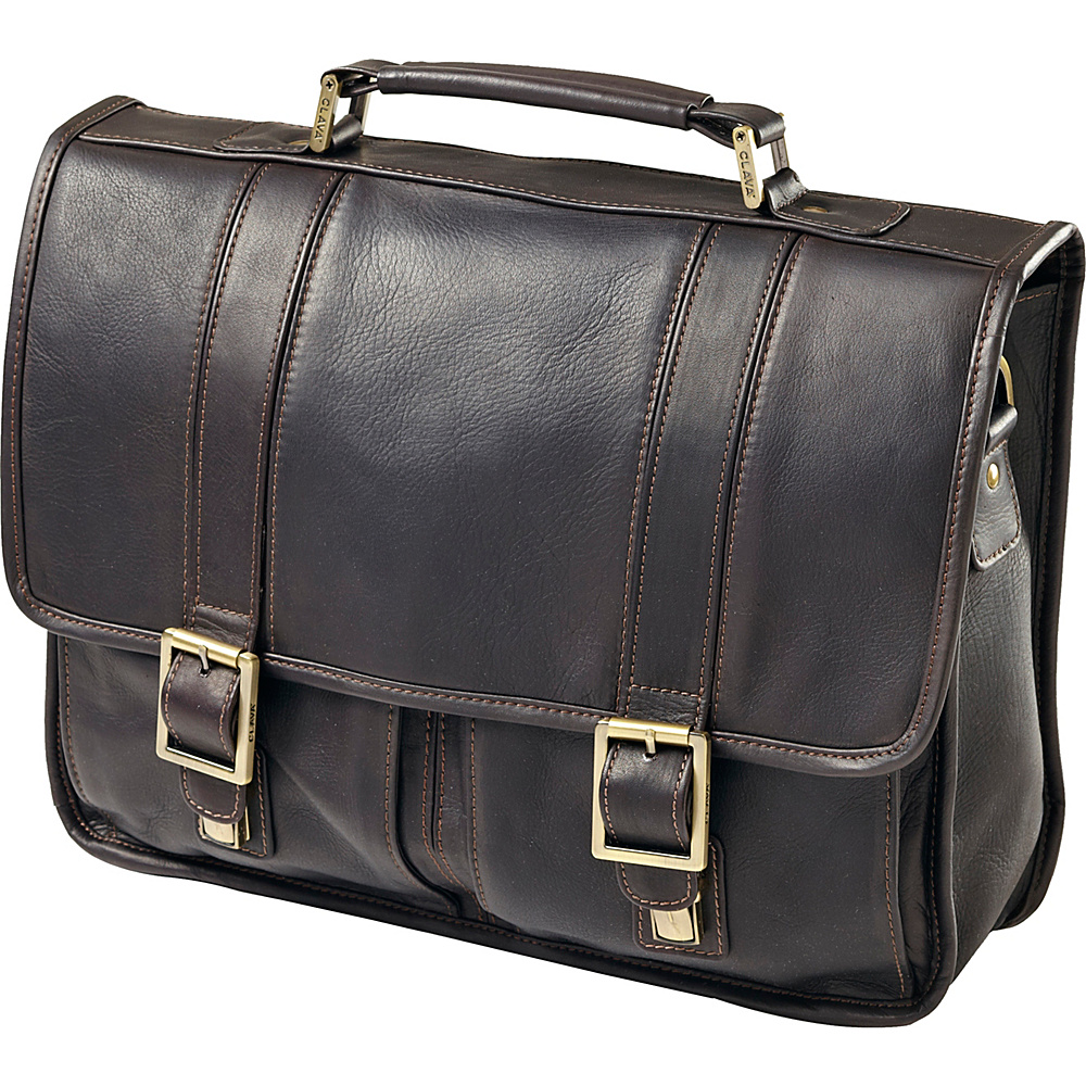 Clava Vachetta Leather Laptop Briefcase - Vachetta Cafe - Work Bags & Briefcases, Non-Wheeled Business Cases