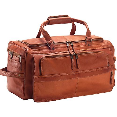 """clava multi-compartment 19"""" duffel - vachetta tan"""