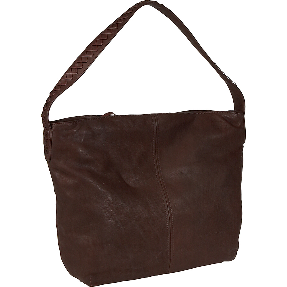 Derek Alexander Flash Back Soft Slouch Hobo - Brown - Handbags, Leather Handbags