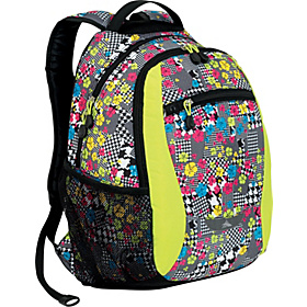 Curve Daypack for Women Blossom Collage, Chartreuse, Black