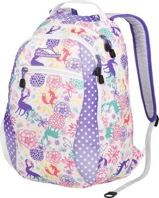 High Sierra Curve Daypack for Women Wonderland/Sprinkleddts/laven/wh - High Sierra School & Day Hiking Backpacks