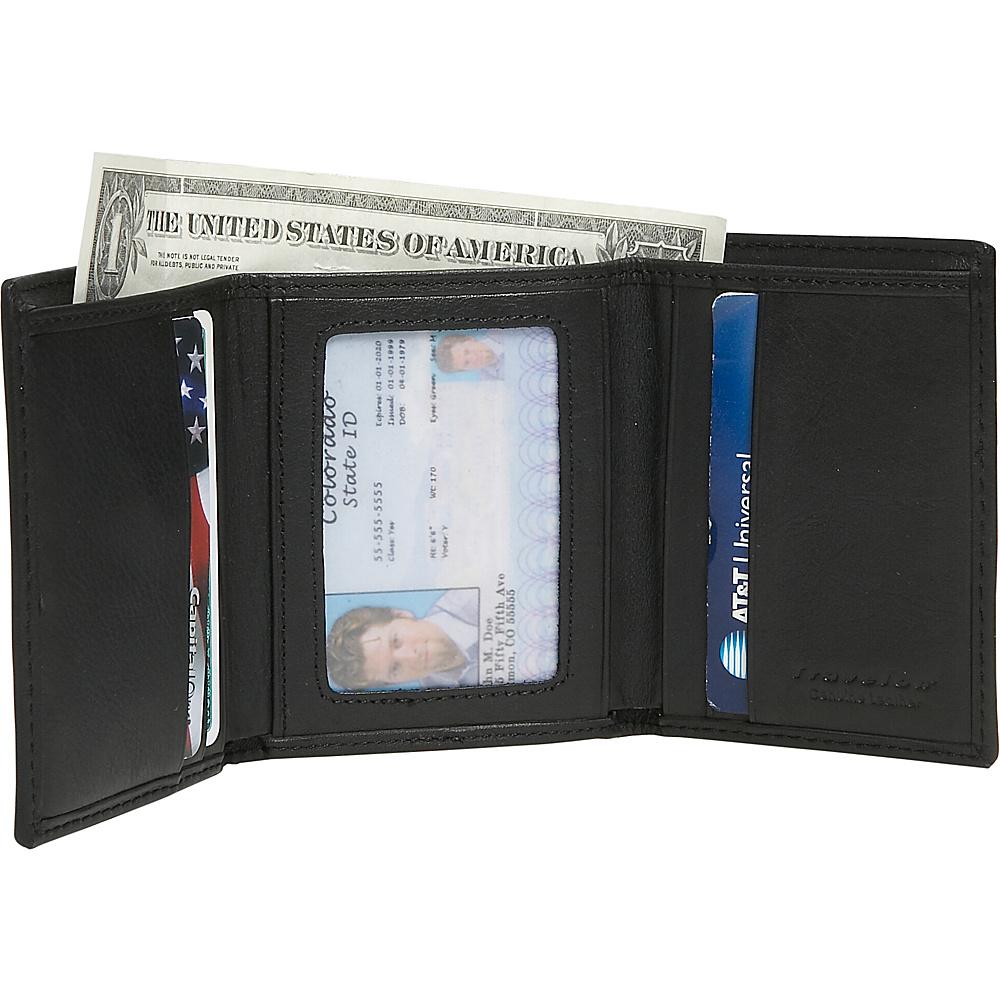 Travelon RFID Blocking Trifold Wallet - Black