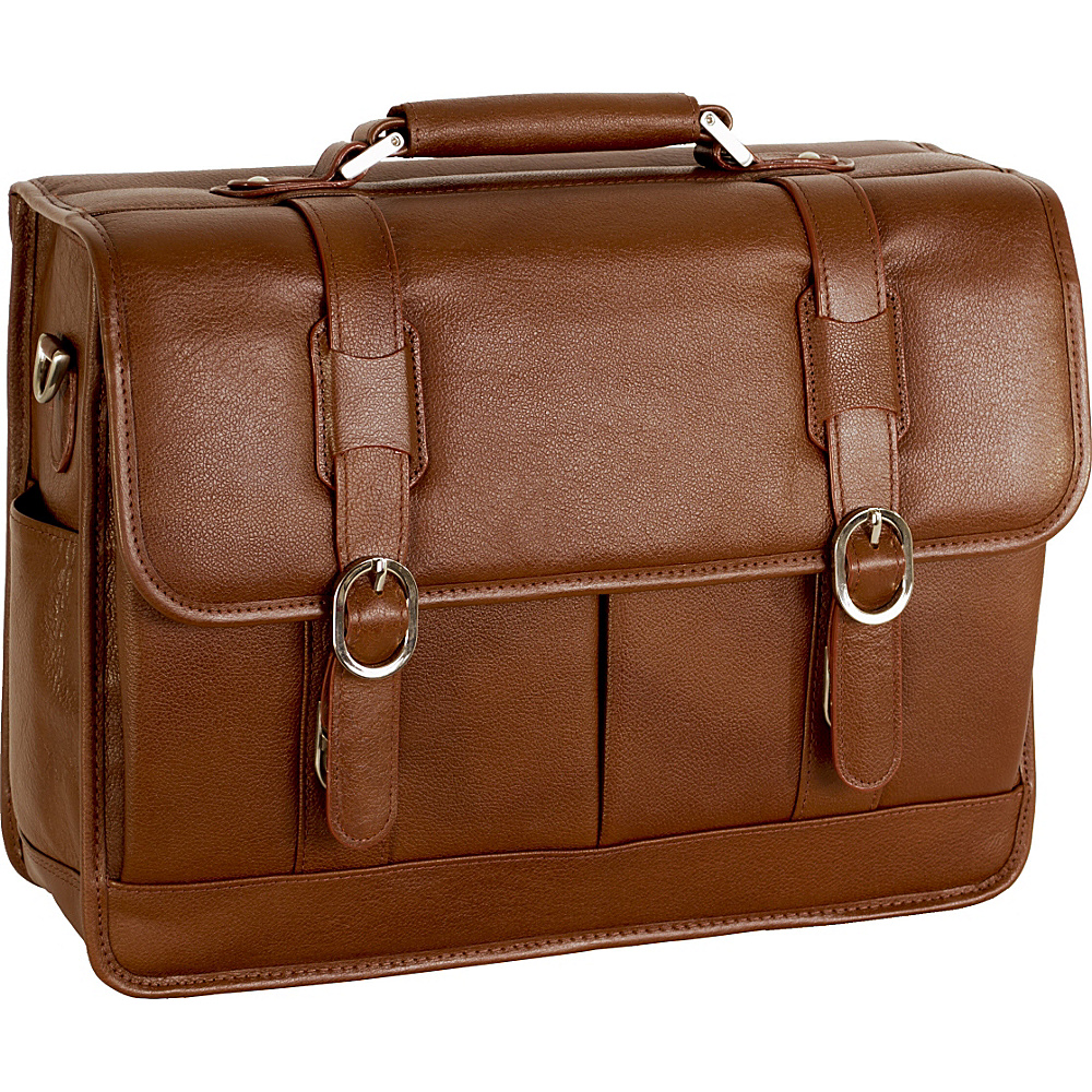McKlein USA Beverly Leather 15.4 Laptop Case - Cognac - Work Bags & Briefcases, Non-Wheeled Business Cases
