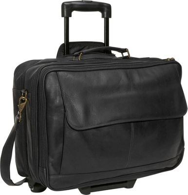 David King & Co. Wheeled Briefcase Black - David King & Co. Wheeled Business Cases