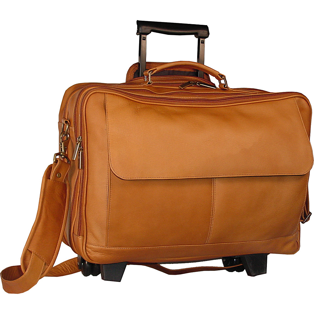 David King Co. Wheeled Briefcase Tan David King Co. Wheeled Business Cases