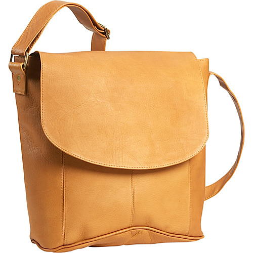 David King & Co. Vertical Simple Messenger Tan - David King & Co. Messenger Bags