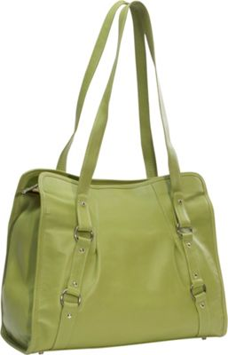 Piel Vertical Belted Laptop Tote - Apple