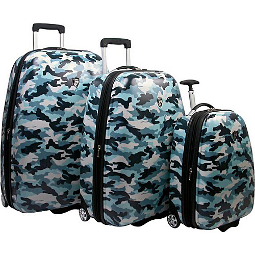 Heys USA Camouflage 3-Piece Luggage Set - Camouflage