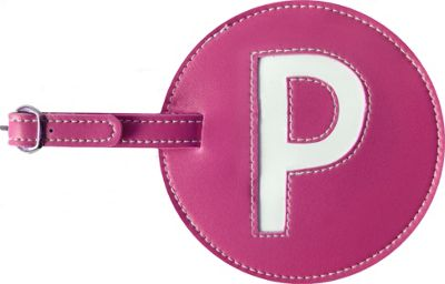 pb travel Initial 'P' Luggage Tag Set of 2 Pink - pb travel Luggage Accessories