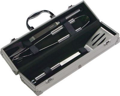 Picnic Plus 3 Piece BBQ Set - Silver