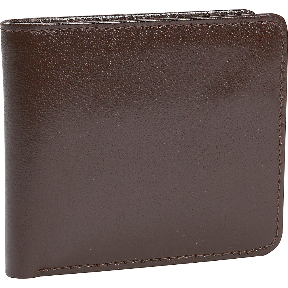 Leatherbay Double Fold Leather Wallet w/Pocket - Dark - Work Bags & Briefcases, Men's Wallets