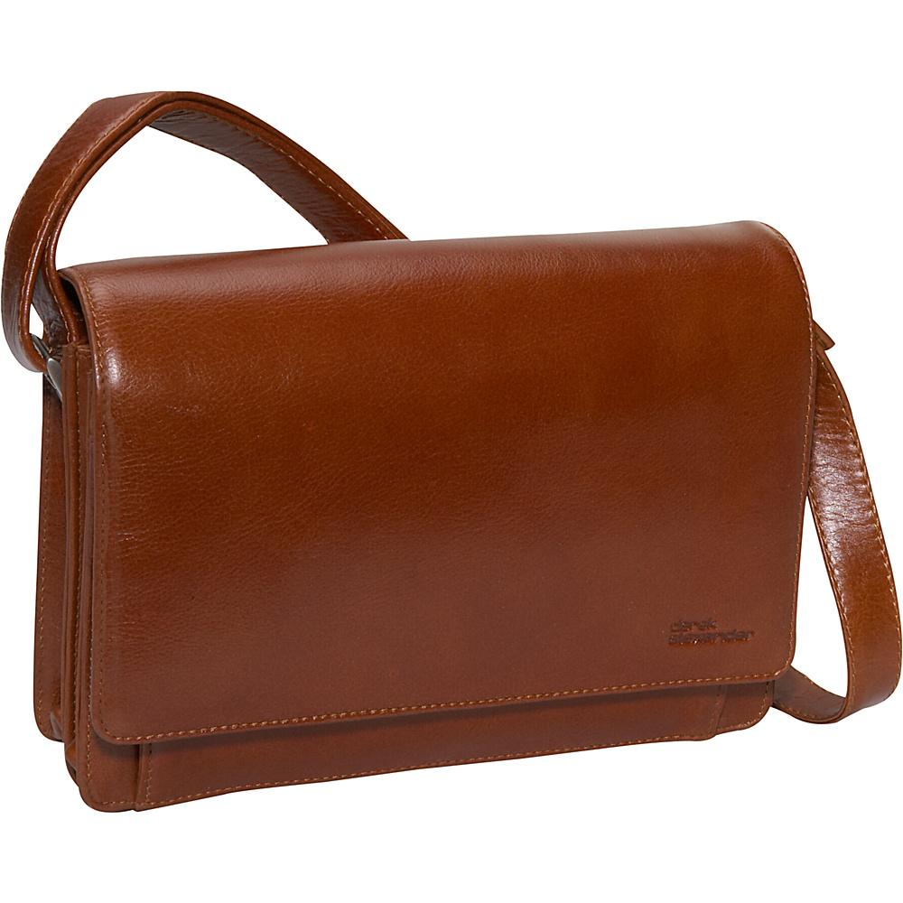 Derek Alexander Flap Organizer X-body - Tan - Handbags, Leather Handbags