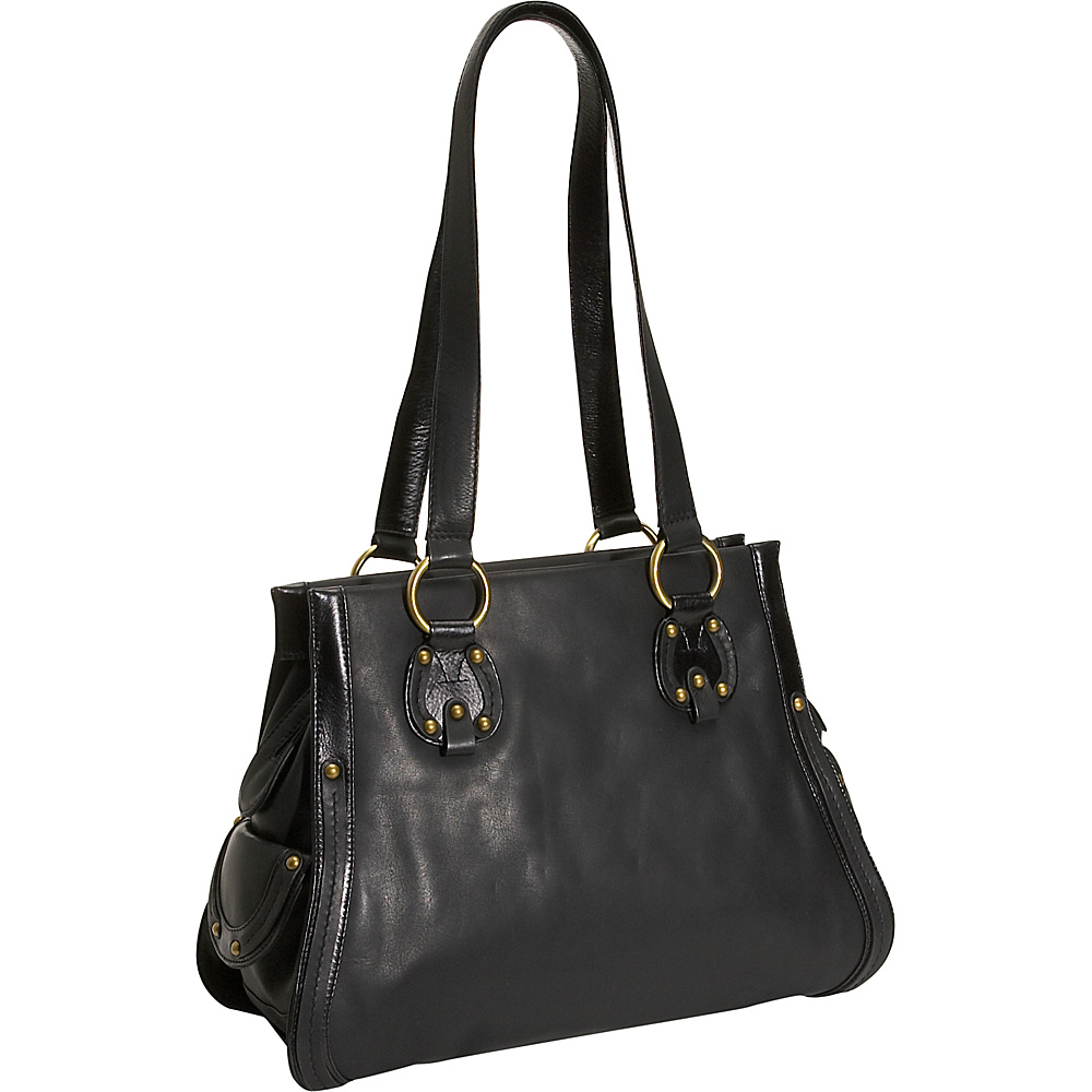 Derek Alexander High Fashion Leather Tote - Black