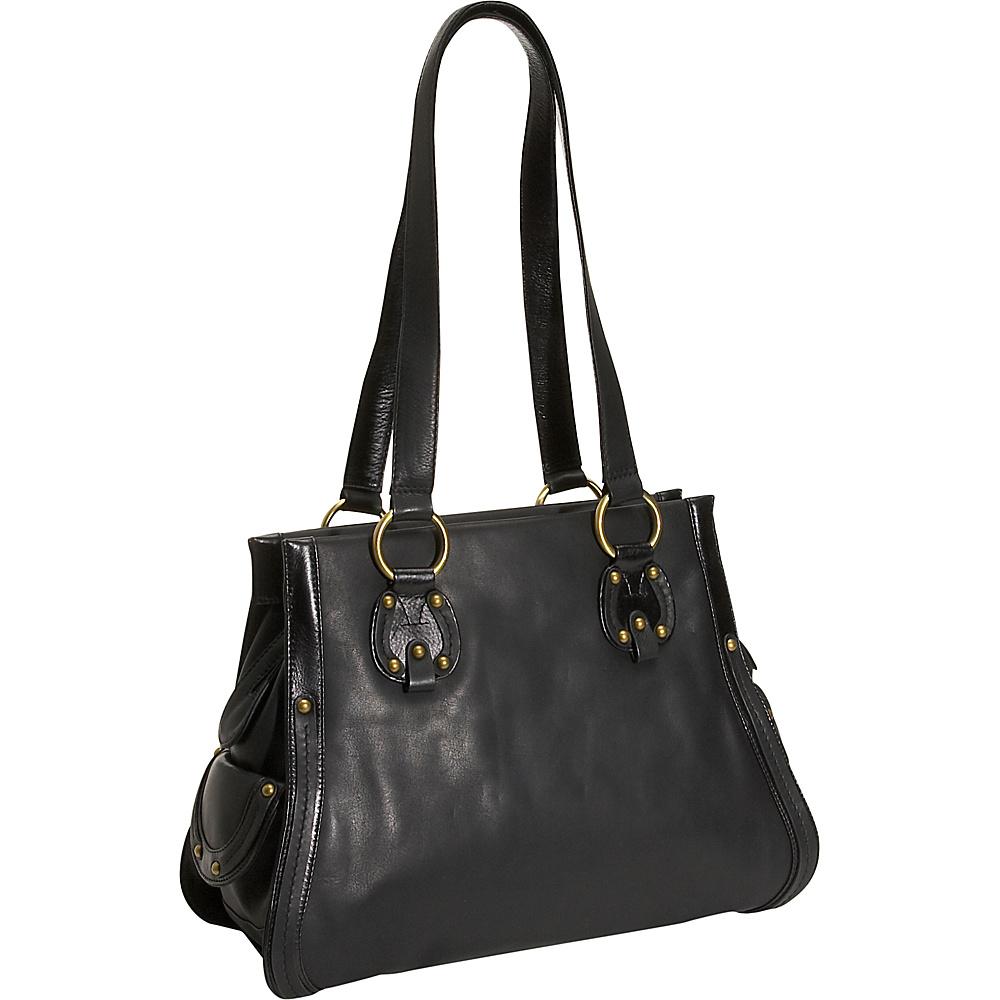 Derek Alexander High Fashion Leather Tote - Black - Handbags, Leather Handbags
