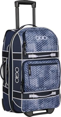 OGIO OGIO Layover 22 inch Rolling Carry-On Navy Polkadot/White - OGIO Softside Carry-On