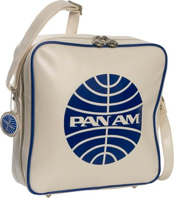 Pan Am Innovator Vintage White/Pan Am Blue - Pan Am Luggage Totes and Satchels